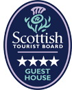 4 Star Guest House, Coynachie Guest House as graded by Scottish Tourist Board